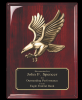 Rosewood Piano Finish plaque with Eagle Casting Eagle Awards