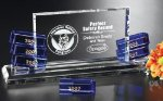 Hollister Goal-Setter Blue Optical Crystal Awards