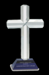 Religious Cross Crystal Award Blue Optical Crystal Awards