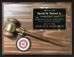 Walnut Gavel Plaque Boss Gift Awards