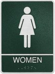 Cast Standard ADA Women's Restroom Sign Cast ADA Plaques