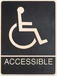 Cast Standard ADA Wheelchair Accessible Sign Cast ADA Plaques