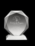 Diamond Clear Optical Crystal Awards