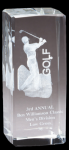 Sport Crystal Golf, Male Award Clear Optical Crystal Awards