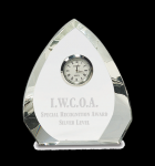 Crystal Arrowhead Clock Clock Crystal Awards