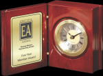 Rosewood Piano Finish Book Clock Desk Clocks