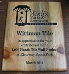 Blue Pine Recognition Award Plaques Eco-Friendly Recognition Plaques