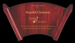 Rosewood Piano Finish Horizontal Scroll Plaque Employee Awards