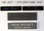 Emergency/Medical Tech. Metal Name Badge Name Tags | Name Badges | Name Plates