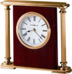 R3104 - High Gloss Rosewood Finish and Brass Award Clock Retirement and Service Awards