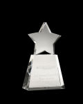 Clear Star on clear base Star Crystal Awards